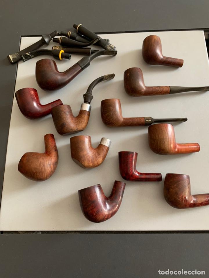 LOTE 12 PIPAS ANTIGUAS. DR.PLUMB/EVERTEST/TOSCANA/SALVATELLA (Coleccionismo - Objetos para Fumar - Pipas)