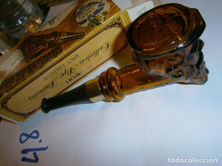 Pipas de fumar: ANTIGUO RECIPIENTE PARA COLONIA CON FORMA DE PIPA EN SU CAJA - Foto 3 - 267682414