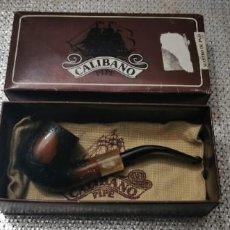 Pipas de fumar: CALIBANO ANTIGUA PIPA RAIZ MAESTRO DE PAJA. Lote 268172554
