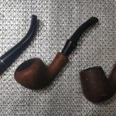 Pipas de fumar: 3 PIPAS ANTIGUAS MEDICO STANDART-CORVET-MADELCAN. Lote 268450089