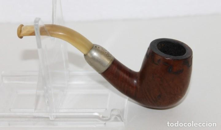 Pipas de fumar: Colección de 10 pipas con soporte expositor y cajón. Distintas marcas y modelos. - Foto 12 - 277472953