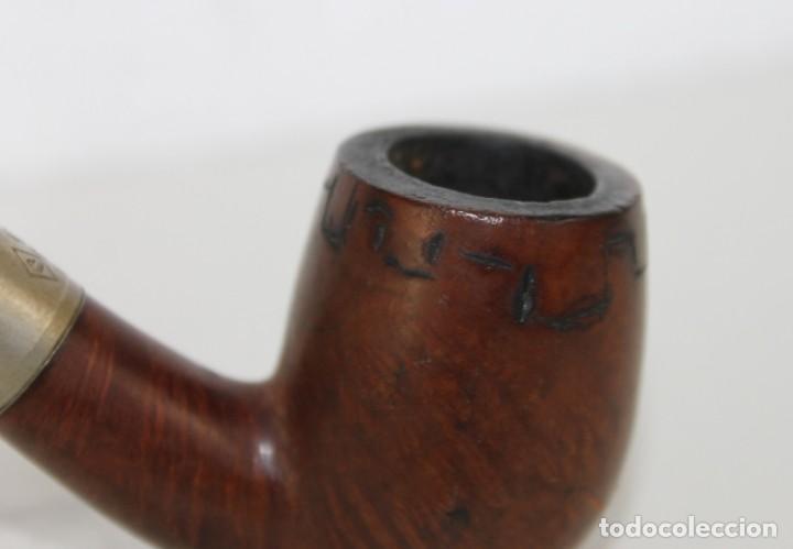 Pipas de fumar: Colección de 10 pipas con soporte expositor y cajón. Distintas marcas y modelos. - Foto 13 - 277472953