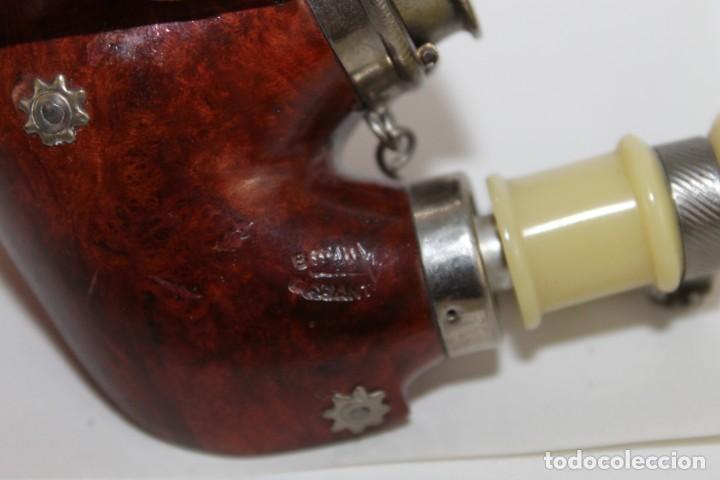 Pipas de fumar: Colección de 10 pipas con soporte expositor y cajón. Distintas marcas y modelos. - Foto 20 - 277472953