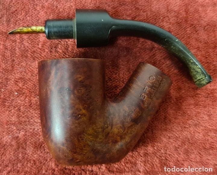Pipas de fumar: PIPA PARA FUMAR BRIOR. MADERA DE BREZO. BOQUILLA DE EBONITA. ESPAÑA. CIRCA 1970. - Foto 11 - 277714313