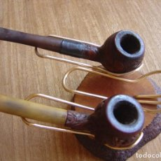 Pipas de fumar: ANTIGUAS PIPAS CON PEANA EXPOSITORA. USADAS.. Lote 278844603