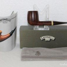 Pipas de fumar: PIPA ITALIANA SAVINELLI MOKA 129 CON ESTUCHE. Lote 283658393