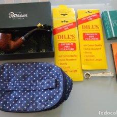 Pipas de fumar: PIPA DE FUMAR MARCA MARCAJE PETERSON OF DUBLIN FILTER 69. + FILTROS + LIMPIADORES + CAJA FUNDA 280GR. Lote 285623698