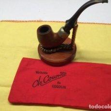 Pipas de fumar: PIPA COURRIER COGOLIN EXTRA CON SOPORTE. Lote 295857908
