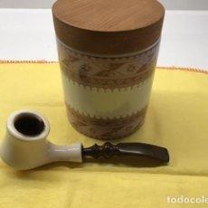 Pipas de fumar: PIPA ZENITH Y TABAQUERA DE PORCELANA.. Lote 295860253