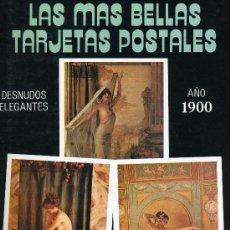 Postales: DESNUDOS ELEGANTES (COLECCIÓN LAS MAS BELLAS TARJETAS POSTALES. AÑO 1900) . Lote 32396908