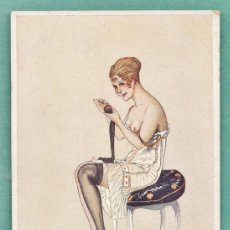 Postales: ANTIGUA POSTAL EROTICA - INTIMITE DE BOUDOIR - Nº 75 - ILUST. G. LEONNEC - FRANCESA - NUEVA. Lote 37791837