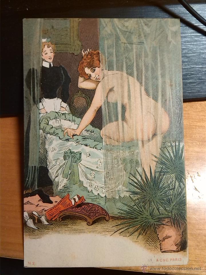 POSTA ERÓTICA FINALES DEL S. XIX (Coleccionismo para Adultos - Postales Temáticas - Eróticas y Pin Ups)
