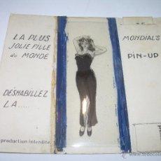 Postales: CHICA PIN UP.....AÑOS 20...FRANCIA MEDIANTE LOS CARTONES SE VISTE O SE DESNUDA.. Lote 48471960