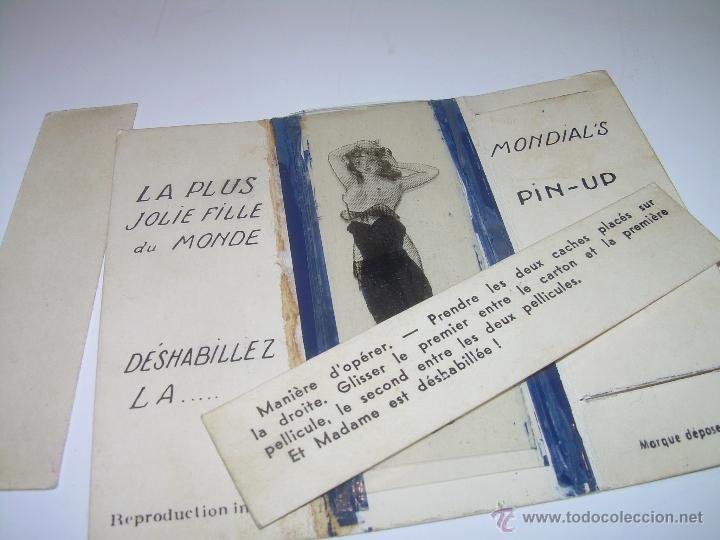 Postales: CHICA PIN UP.....AÑOS 20...FRANCIA MEDIANTE LOS CARTONES SE VISTE O SE DESNUDA. - Foto 4 - 48471960