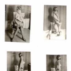 Postales: CUATRO FOTOGRAFIAS EROTICAS DE UNA MISMA MODELO, ARCHIVO FOTOGRAFICO, COLECCION PRIVADA, AÑOS 60.. Lote 58176593