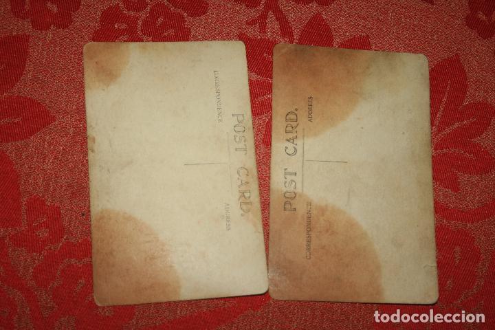 Postales: Dos postales eróticas años 20/30. sin circular. Algo manchadas - Foto 2 - 97478979