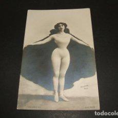 Postais: BELLA OTERO PONTE VALGA PONTEVEDRA POSTAL EROTICA REVERSO SIN DIVIDIR ANTERIOR A 1905. Lote 102672139