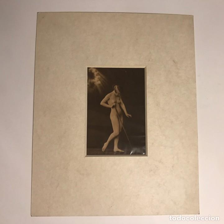 Postales: postal antigua erótica con paspartú biselado color crema marmolado - Foto 2 - 147253246