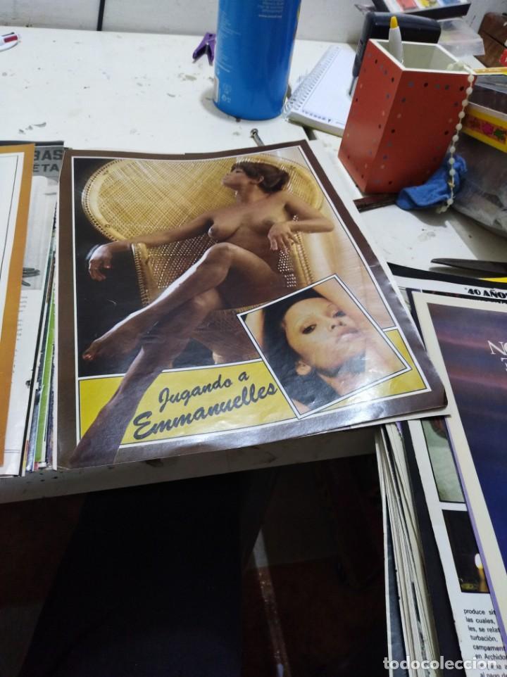 Postales: Lote de recortes y artículos de cine erotico - Foto 3 - 165375034
