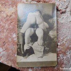 Postales: POSTAL FOTOGRÁFICA TEMA PORNO PORNOGRAFIA PRINCIPIOS DEL SIGLO XX ORIGINAL. Lote 165746198