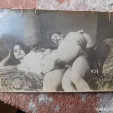 Postales: POSTAL FOTOGRÁFICA TEMA PORNO PORNOGRAFIA PRINCIPIOS DEL SIGLO XX ORIGINAL. Lote 165746226