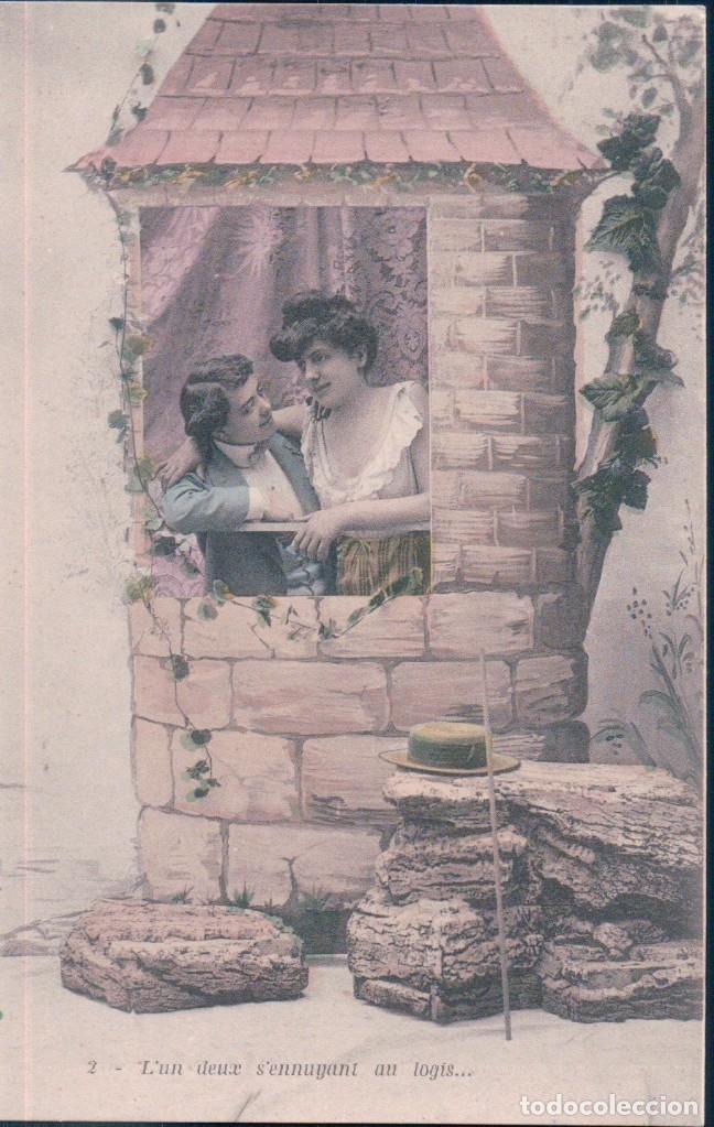 Postales: SERIE DE 6 POSTALES - LES DEUX TOURTEREAUX - SERIE 1565 - EN PERFECTO ESTADO Y CON SU FUNDA DE PAPEL - Foto 2 - 173094384