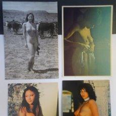 Postales: LOTE DE 4 POSTALES CPSM , DESNUDOS DE MUJERES, VER FOTOS Y REVERSO. Lote 238389340