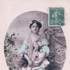 Postales: POSTAL EROTICA DE MUJER - CIRCULADA - V B C SERIE 3085 - CIRCULADA. Lote 180199511