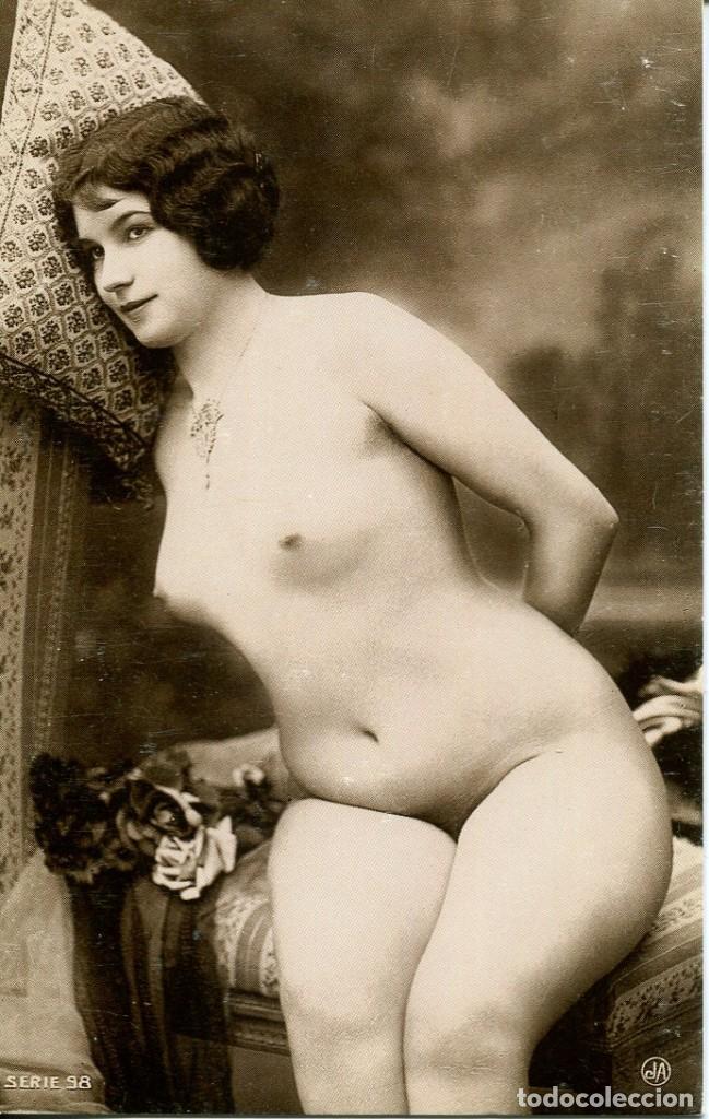 Postales: 3 -TARJETAS POSTALES-DESNUDO MUJER-AÑOS 20- - REPROD. - Foto 3 - 190824555