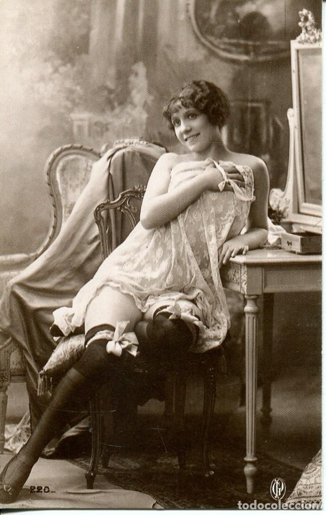 Postales: 3 -TARJETAS POSTALES-DESNUDO MUJER-AÑOS 20- - REPROD. - Foto 2 - 190824678