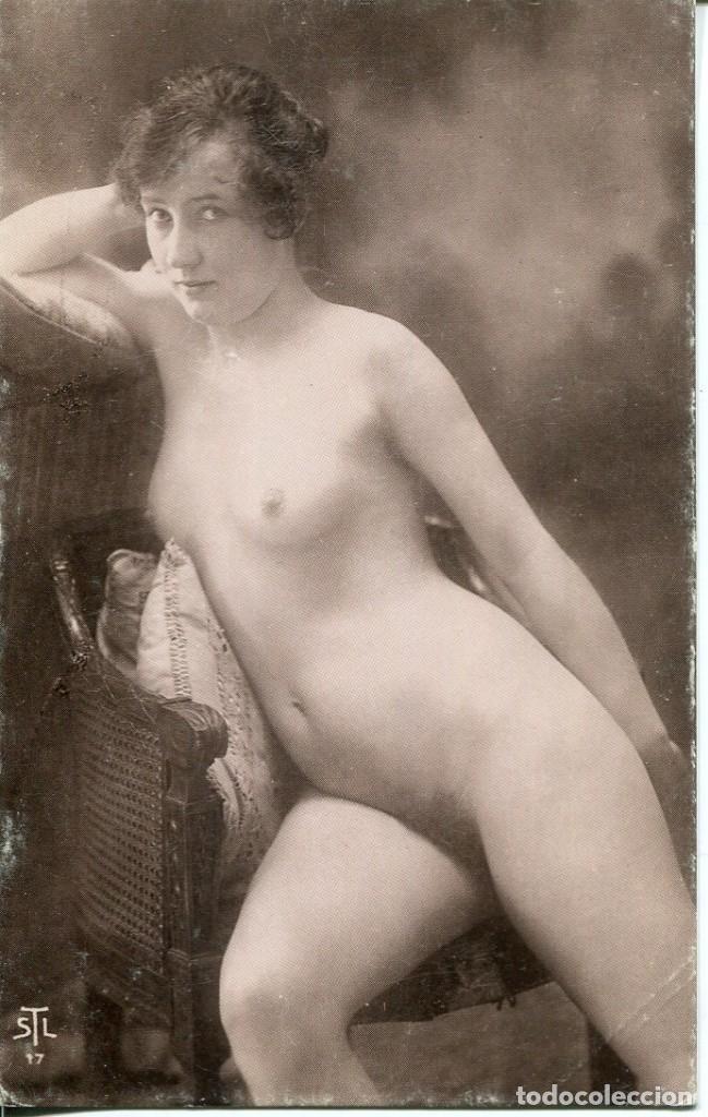 Postales: 3 -TARJETAS POSTALES-DESNUDO MUJER-AÑOS 20- - REPROD. - Foto 3 - 190824678
