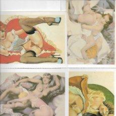 Postales: 4 POSTALES ERÓTICO/ PORNO. 1988. E. ANTALBE.. Lote 195884442