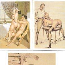 Postales: 3 POSTALES ERÓTICO/ PORNO. 1988. E. ANTALBE.. Lote 195891600