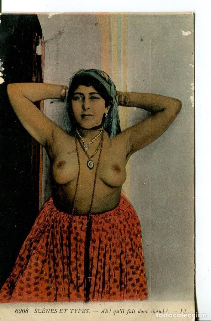 DESNUDO JOVEN ÉTNICA-ÁRABE--AÑO 1919- LL (Coleccionismo para Adultos - Postales Temáticas - Eróticas y Pin Ups)