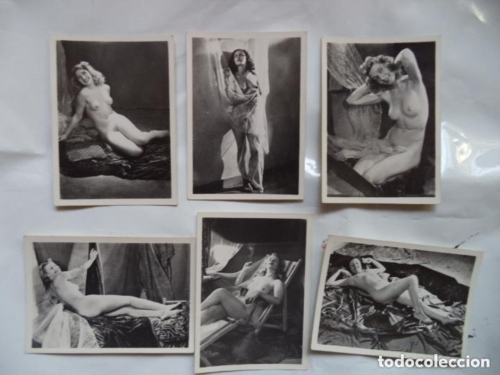 COLECCION DE 6 FOTOGRAFIAS DE DESNUDOS FEMENINOS (Coleccionismo para Adultos - Postales Temáticas - Eróticas y Pin Ups)