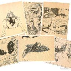 Postales: MILO MANARA - LOTE 6 POSTALES ERÓTICAS - 1990 - L´IMMAGINARIO. Lote 210988884