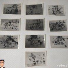 """Postales: COLECCIÓN 10 FOTOS PORNO ERÓTICAS (CROMOS NUMERADOS) """"EL BURRO"""" ZOOFILIA - AÑOS 30/40. Lote 230803145"""