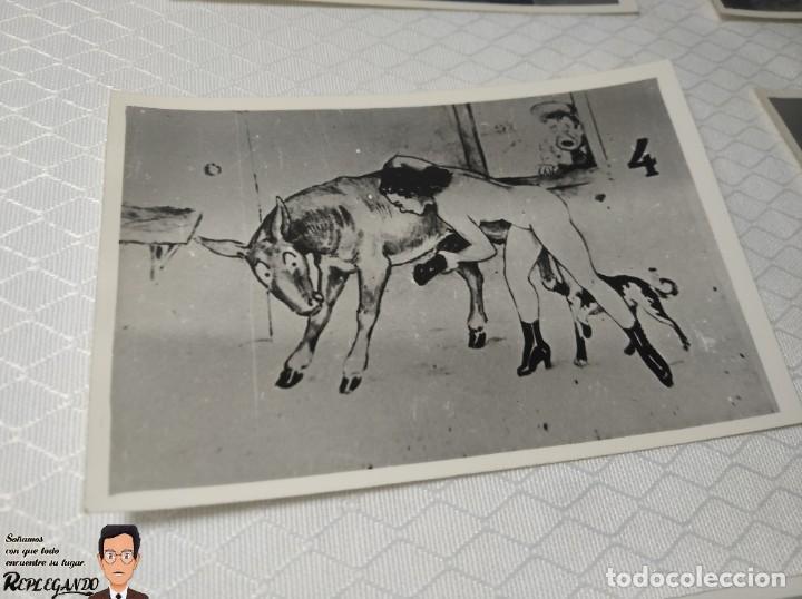 """Postales: COLECCIÓN 10 FOTOS PORNO ERÓTICAS (CROMOS NUMERADOS) """"EL BURRO"""" ZOOFILIA - AÑOS 30/40 - Foto 5 - 230803145"""