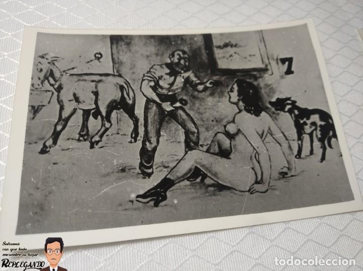 """Postales: COLECCIÓN 10 FOTOS PORNO ERÓTICAS (CROMOS NUMERADOS) """"EL BURRO"""" ZOOFILIA - AÑOS 30/40 - Foto 8 - 230803145"""