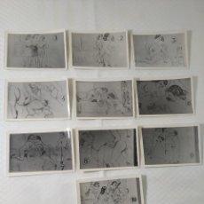 """Postales: COLECCIÓN 10 FOTOS PORNO ERÓTICAS (CROMOS NUMERADOS) """"EL INTRUSO"""" - AÑOS 30/40. Lote 230803385"""