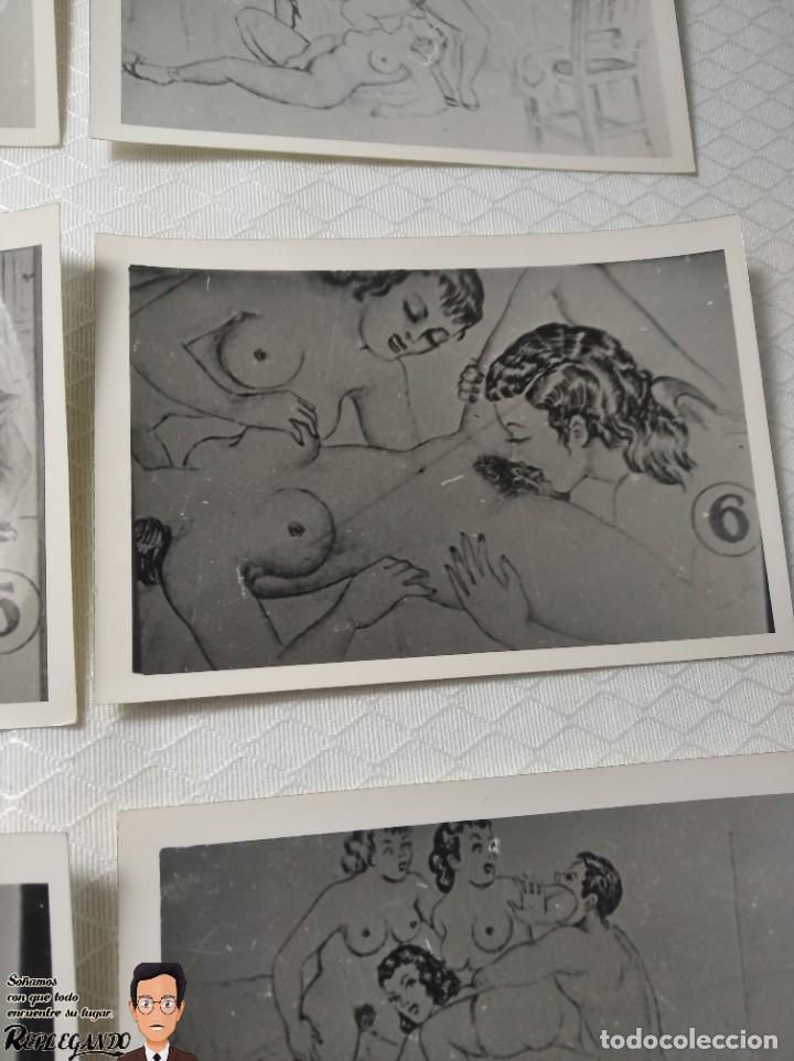 """Postales: COLECCIÓN 10 FOTOS PORNO ERÓTICAS (CROMOS NUMERADOS) """"EL INTRUSO"""" - AÑOS 30/40 - Foto 7 - 230803385"""