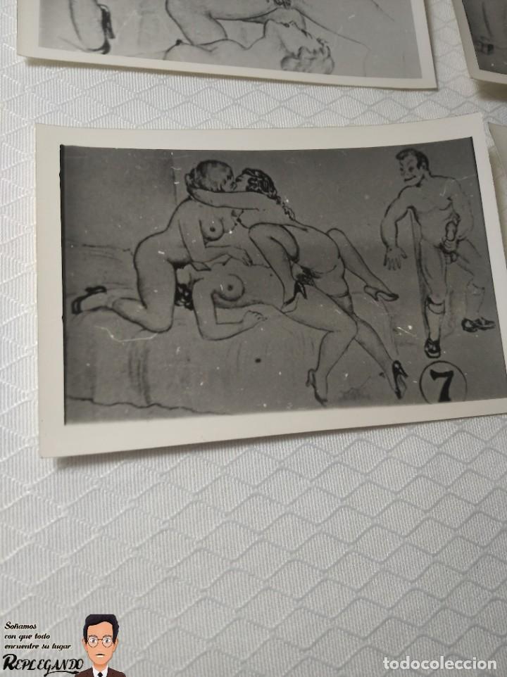 """Postales: COLECCIÓN 10 FOTOS PORNO ERÓTICAS (CROMOS NUMERADOS) """"EL INTRUSO"""" - AÑOS 30/40 - Foto 8 - 230803385"""