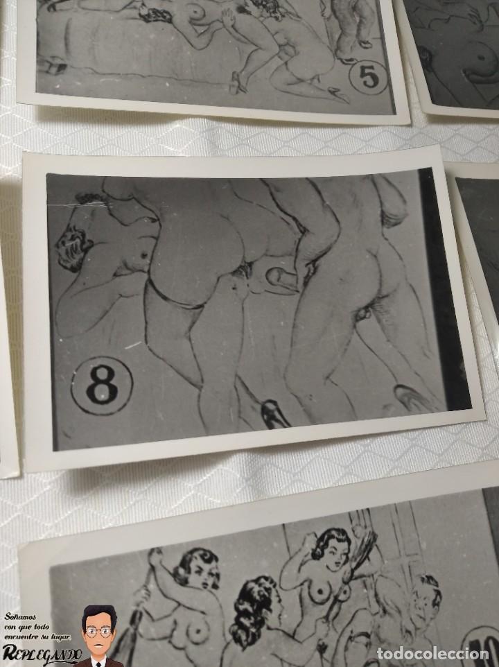 """Postales: COLECCIÓN 10 FOTOS PORNO ERÓTICAS (CROMOS NUMERADOS) """"EL INTRUSO"""" - AÑOS 30/40 - Foto 9 - 230803385"""