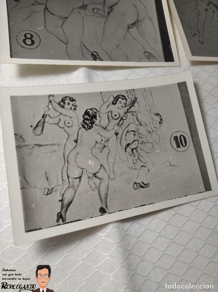 """Postales: COLECCIÓN 10 FOTOS PORNO ERÓTICAS (CROMOS NUMERADOS) """"EL INTRUSO"""" - AÑOS 30/40 - Foto 11 - 230803385"""