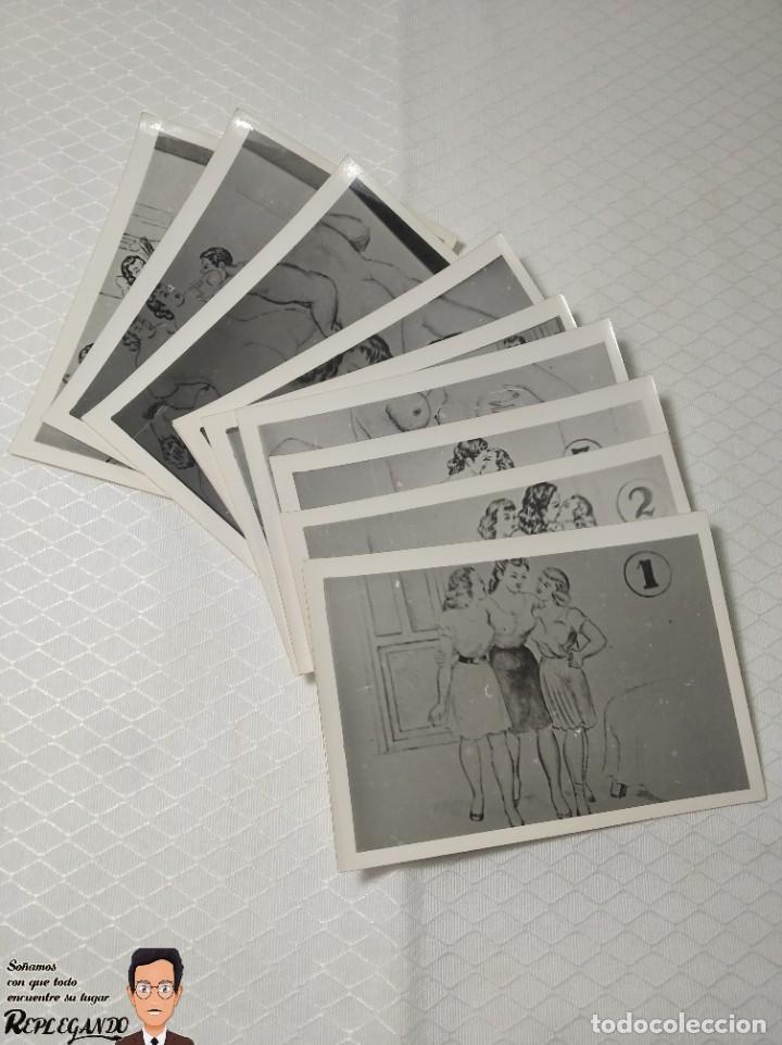 """Postales: COLECCIÓN 10 FOTOS PORNO ERÓTICAS (CROMOS NUMERADOS) """"EL INTRUSO"""" - AÑOS 30/40 - Foto 12 - 230803385"""