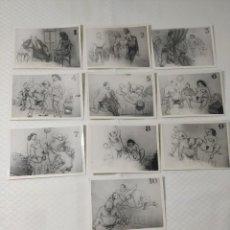 """Postales: COLECCIÓN 10 FOTOS PORNO ERÓTICAS (CROMOS NUMERADOS) """"CUIDADO AL CASARTE"""" - AÑOS 30/40. Lote 230803500"""
