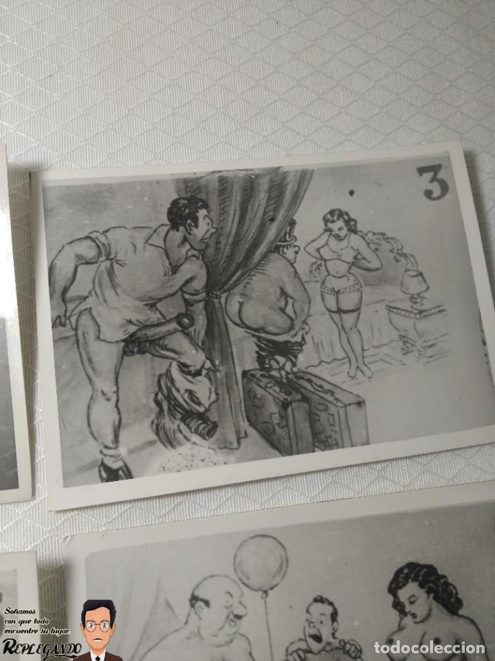 """Postales: COLECCIÓN 10 FOTOS PORNO ERÓTICAS (CROMOS NUMERADOS) """"CUIDADO AL CASARTE"""" - AÑOS 30/40 - Foto 4 - 230803500"""
