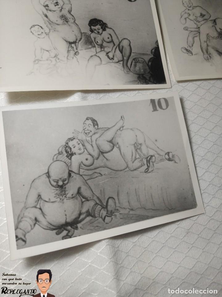 """Postales: COLECCIÓN 10 FOTOS PORNO ERÓTICAS (CROMOS NUMERADOS) """"CUIDADO AL CASARTE"""" - AÑOS 30/40 - Foto 11 - 230803500"""