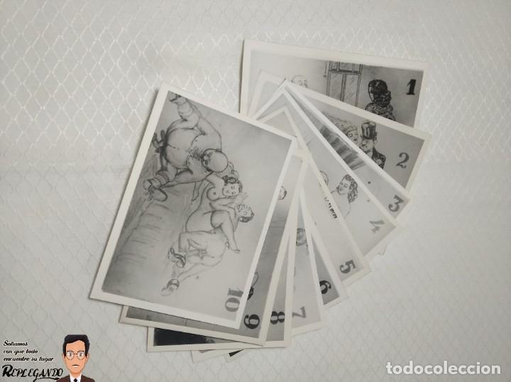 """Postales: COLECCIÓN 10 FOTOS PORNO ERÓTICAS (CROMOS NUMERADOS) """"CUIDADO AL CASARTE"""" - AÑOS 30/40 - Foto 12 - 230803500"""