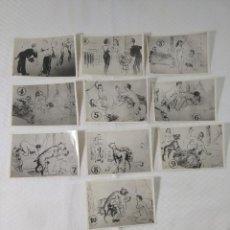 """Postales: COLECCIÓN 10 FOTOS PORNO ERÓTICAS (CROMOS NUMERADOS) """"UN PERRO LISTO"""" ZOOFILIA - AÑOS 30/40. Lote 230803615"""